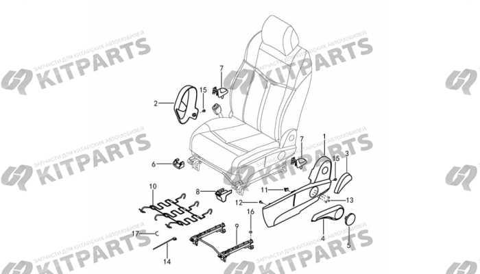 Сиденье водителя ткань - механизмы и ручки Dong Feng AX7