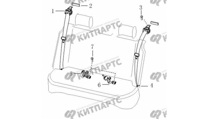 Ремень безопасности задний BYD F3 (F3R)