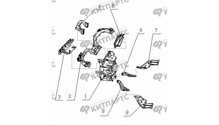 Воздуховоды BYD F3 (F3R)