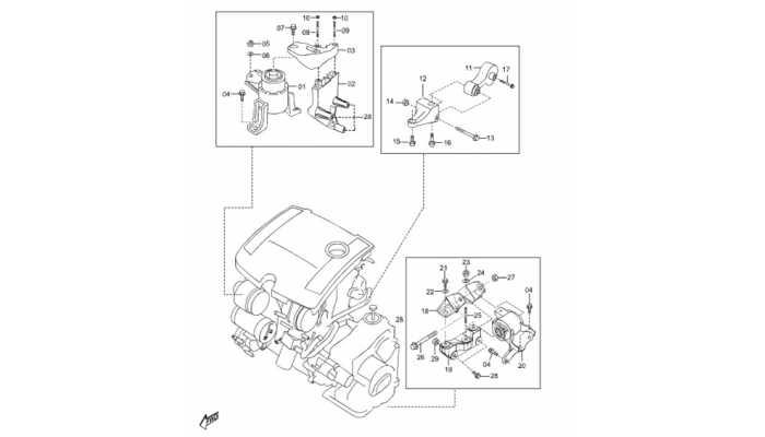 Кронштейны двигателя и МКПП FAW Besturn B50