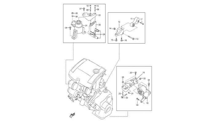 Кронштейны двигателя и АКПП FAW Besturn B50