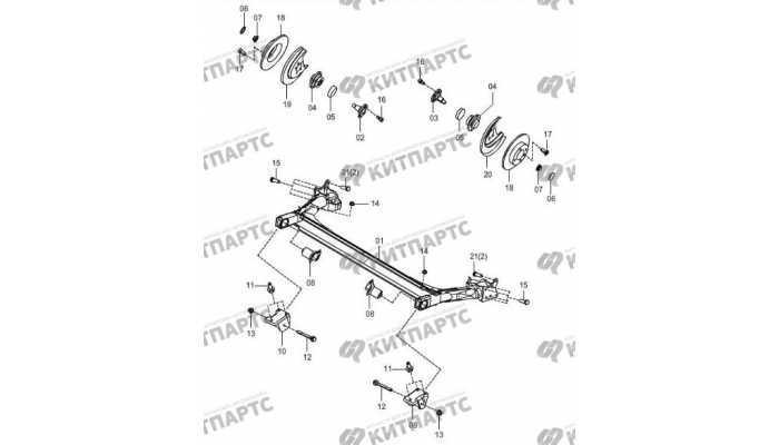 Back shaft-disc brake FAW Oley