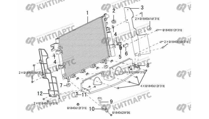 Радиатор кондиционера Great Wall Hover H3 New