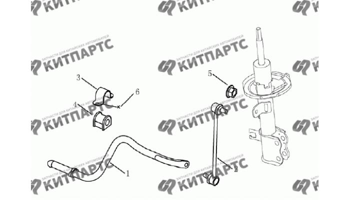 Стабилизатор передний Geely Emgrand (EC7)