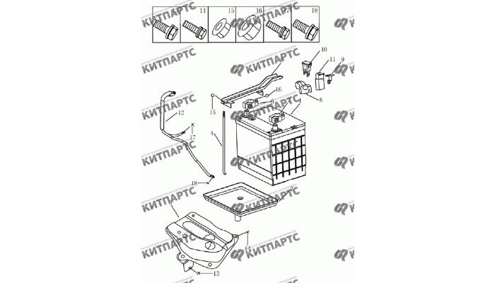 Аккумулятор Geely Emgrand (EC7)