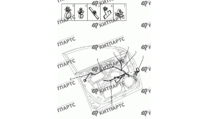 Жгут проводов передней двери Geely Emgrand (EC7)
