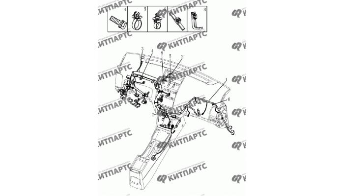 Жгут проводов панели приборов (1.8L) Geely Emgrand (EC7)