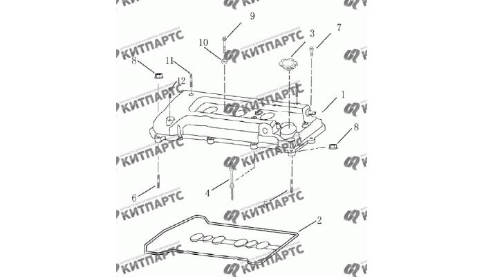 Клапанная крышка (1.8 L) Geely Emgrand (EC7)