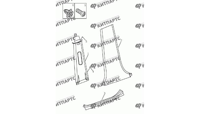 Накладки средней стойки Geely Emgrand (EC7)