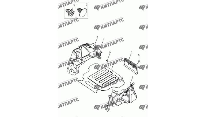 Обивка багажника (седан) Geely Emgrand (EC7)