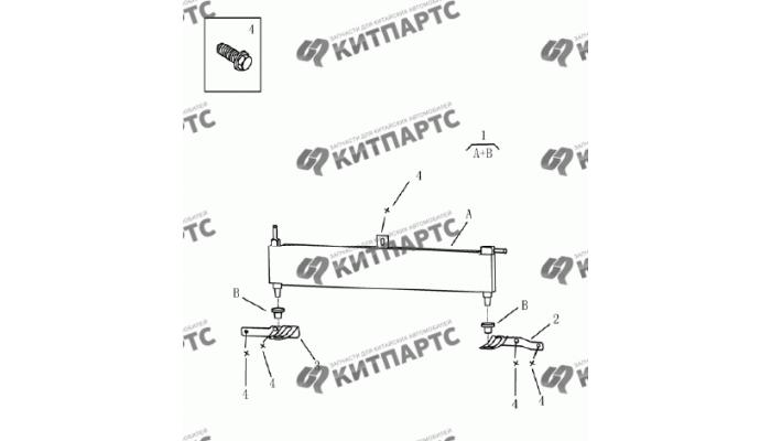 Радиатор охлаждения вариатора Geely Emgrand (EC7)