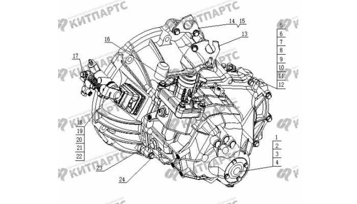 S160G Коробка передач в сборе Geely Otaka (CK)
